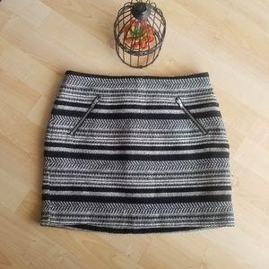 H & M Gray Mini Skirt Size 4